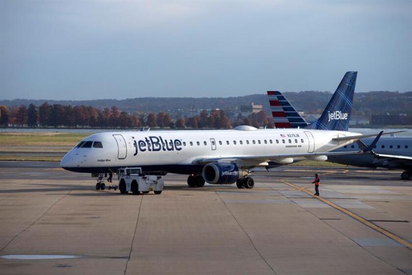 JetBlue Airways, una de las aerolíneas con vuelos a Puerto Rico, llevó a cabo actividades para el reclutamiento de empleo en el Hotel La Concha en San Juan (Puerto Rico) este martes y miércoles 13 y 14 de marzo a las que se presentaron y alrededor de 275 candidatos pre-cualificados. EFE/EPA/ARCHIVO