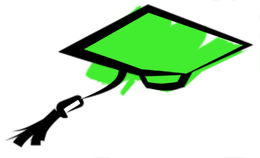 Illustration of a graduation cap.