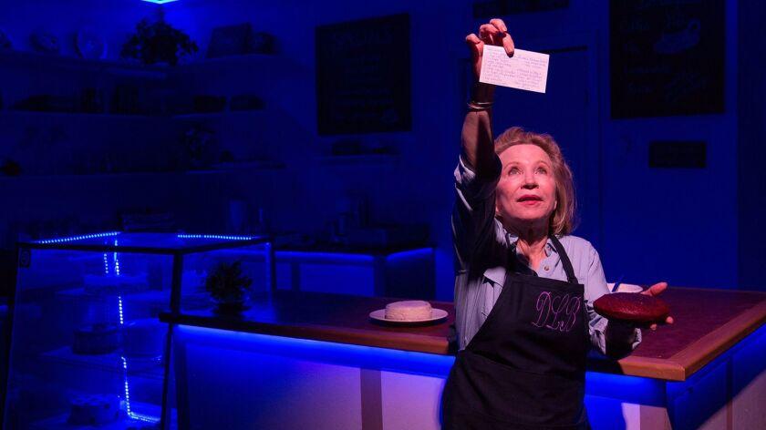 "Debra Jo Rupp in a scene from the Echo Theater production of Bekah Brunstetter's ""The Cake."""