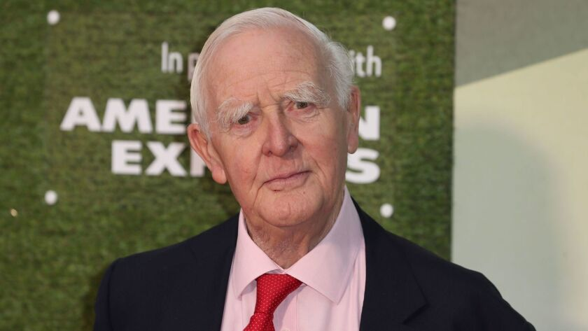 """British author John le Carré at the October premiere of a series based on his """"The Little Drummer Girl."""""""