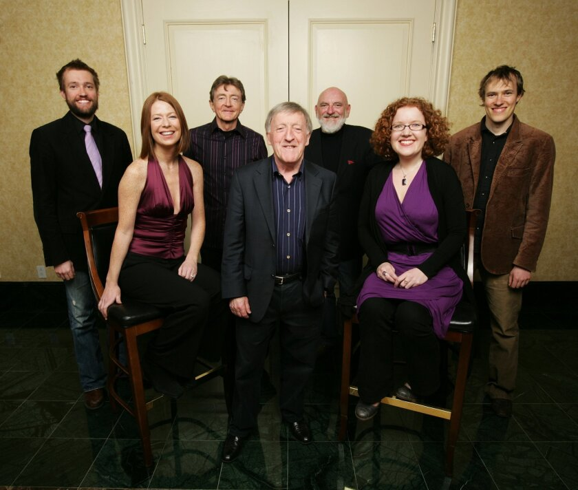 Paddy Moloney (center) and The Chieftians, Ireland's top Celtic music band, return to San Diego for an all-ages Sunday performance.