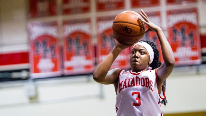 Mount Miguel's Satera Bates led the Matadors with 36 points Friday night.