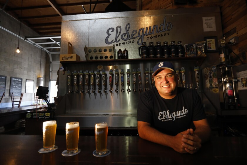 Rob Croxall is president and head brewer of El Segundo Brewing Co. Before that, he worked in aerospace.