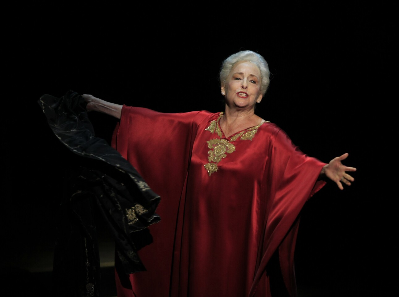 """Mezzo-soprano Frederica von Stade performs Ricky Ian Gordon's """"A Coffin in Egypt,"""" which the composer wrote for her, at the Wallis Annenberg Center for the Performing Arts in Beverly Hills."""