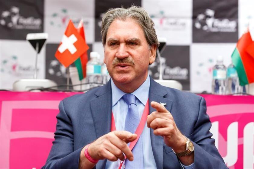 En la imagen, el presidente de la Federación Internacional de Tenis (ITF), el estadounidense David Haggerty. EFE/Archivo