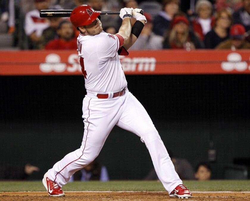 The Angels have recalled C.J. Cron from triple-A Salt Lake.