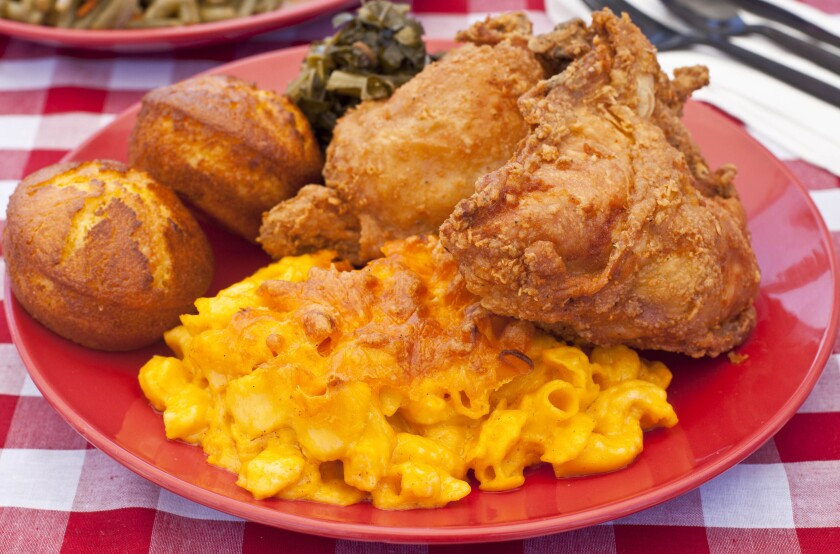 Fried chicken from Dulan's Soul Food Kitchen