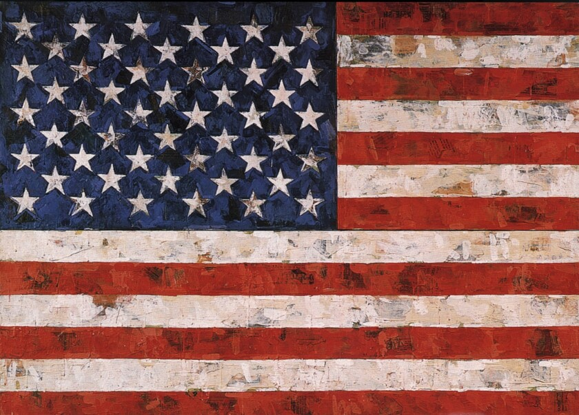 """""""Flag,"""" by American artist Jasper Johns. A former assistant to Johns pleaded guilty to stealing unfinished works from the artist's studio and duping a Manhattan gallery into selling them."""