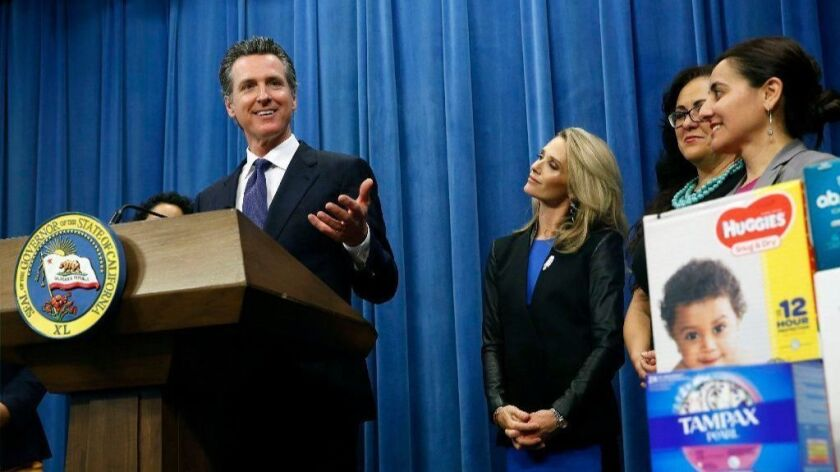 Gavin Newsom, Jennifer Siebel Newsom, Lorena Gonzalez, Monique Limon