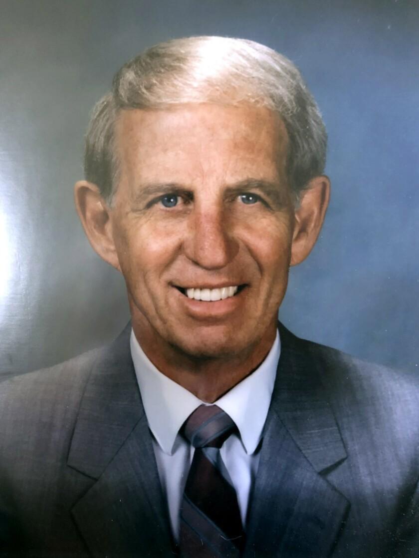 Elmer Combs won eight league titles as head coach of Huntington Beach High School boys' basketball from 1958 to 1977.