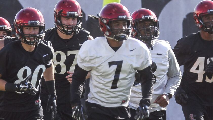 San Diego State cornerback Kameron Kelly (7) will be among the Aztecs players participating Thursday in the school's Pro Day for NFL scouts.