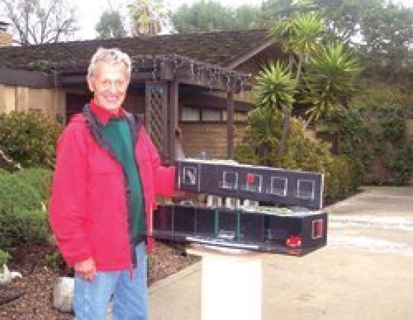 Chuck Bahde with his hybrid home mock-up designs