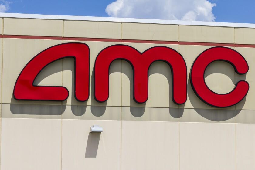 AMC sign on a building.