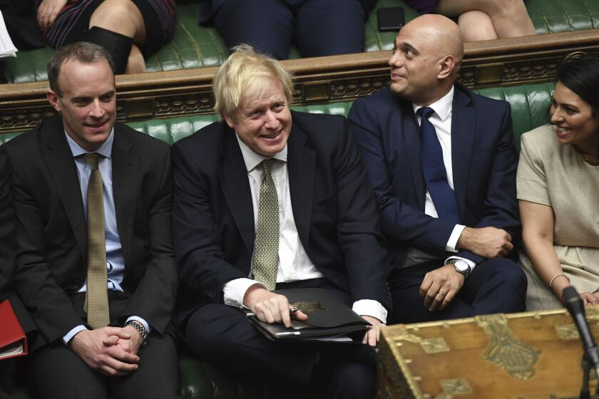 Britain's Prime Minister Boris Johnson attends a debate in the House of Commons