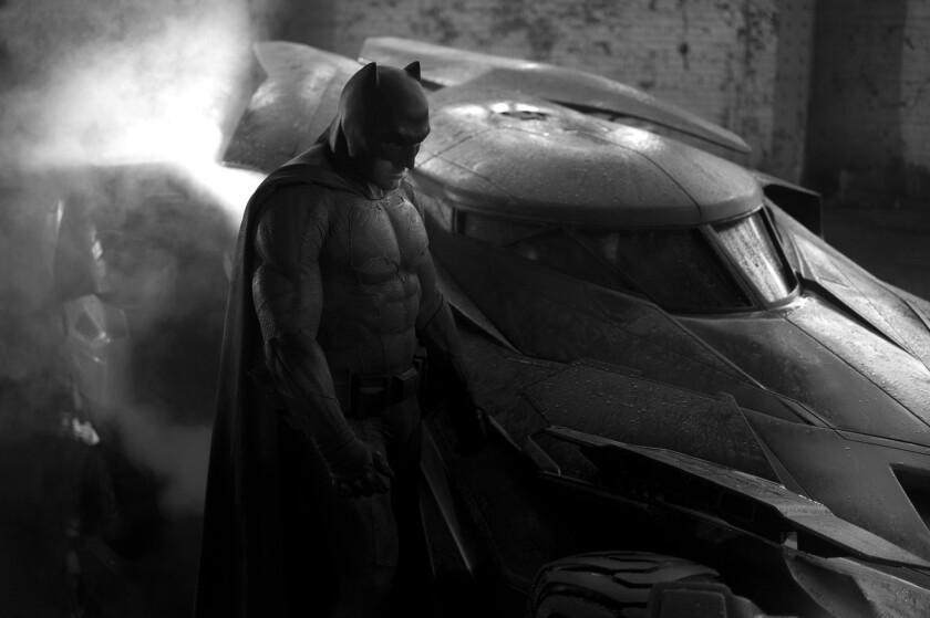 "Ben Affleck as Batman in the upcoming superhero epic ""Batman v Superman: Dawn of Justice."""