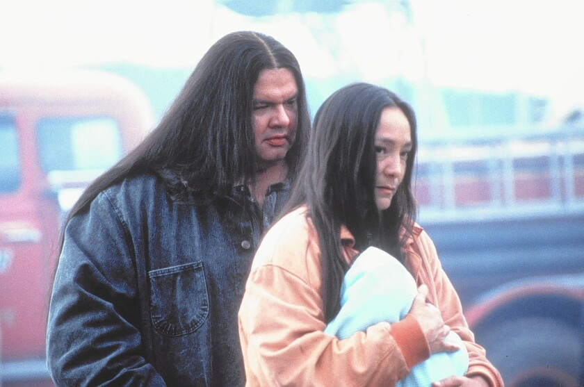 """Gary Farmer and Tantoo Cardinal in Chris Eyre's """"Smoke Signals."""""""