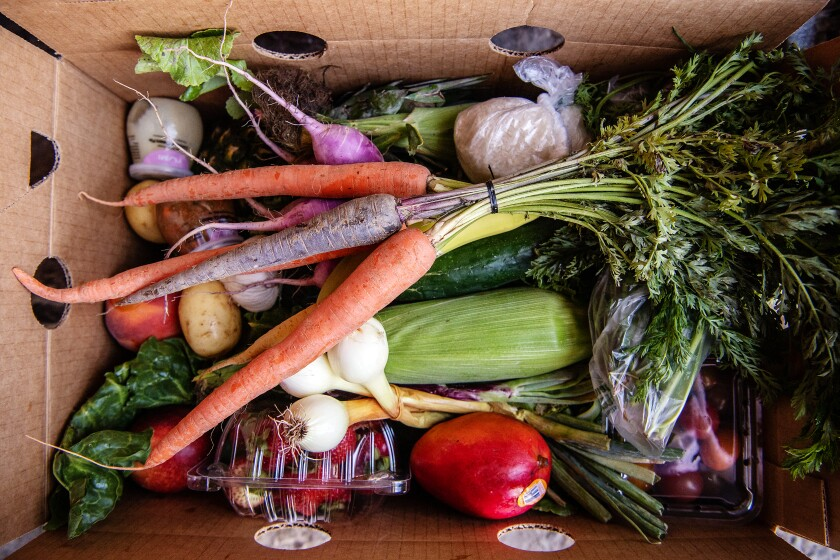 A look inside one of the produce boxes at Summaeverythang.