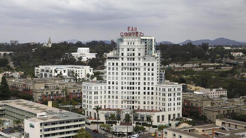 The El Cortez, formerly one of San Diego's most famous hotel landmarks, now a residence.