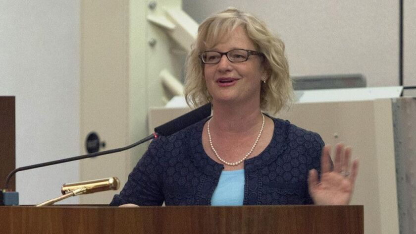 Costa Mesa Mayor Katrina Foley says public employees didn't cause the problem of unfunded pension li