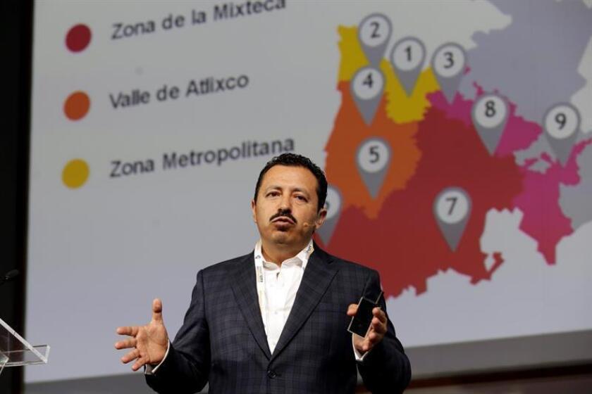 El comisionado para la Reconstrucción de Puebla, Eugenio Mora, participa hoy, miércoles 12 de Septiembre de 2018, en el Smart City Expo Latam Congress 2018, en Puebla (México). EFE