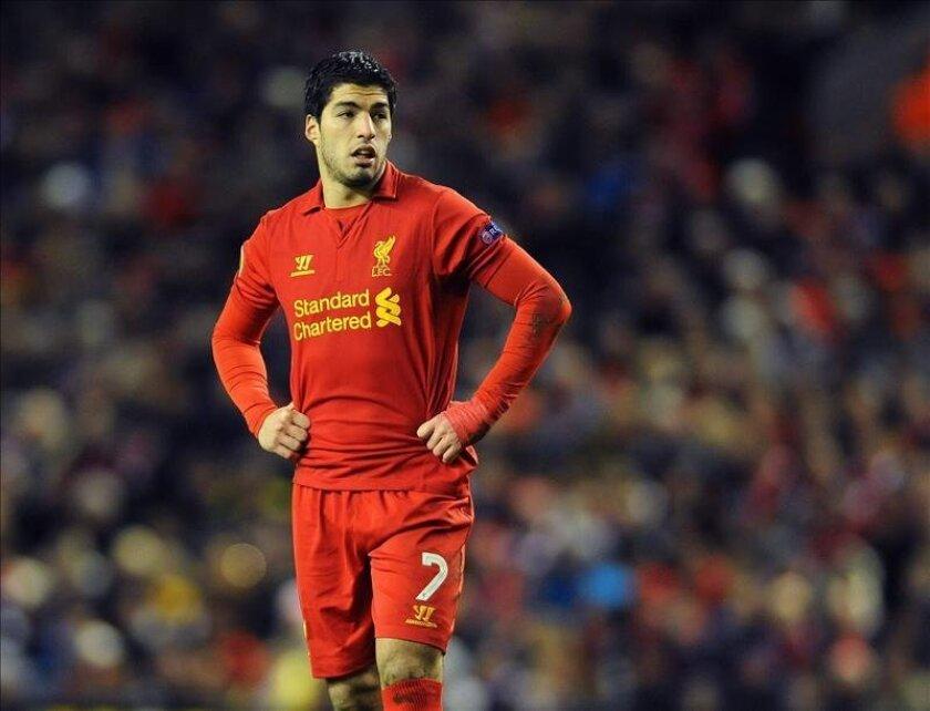 Imagen de archivo del jugador del Liverpool, el uruguayo Luis Suárez. EFE/Archivo