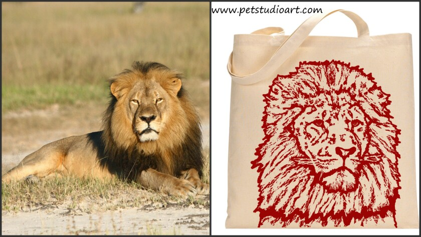 Cecil the Lion and Benefit Tote Bag