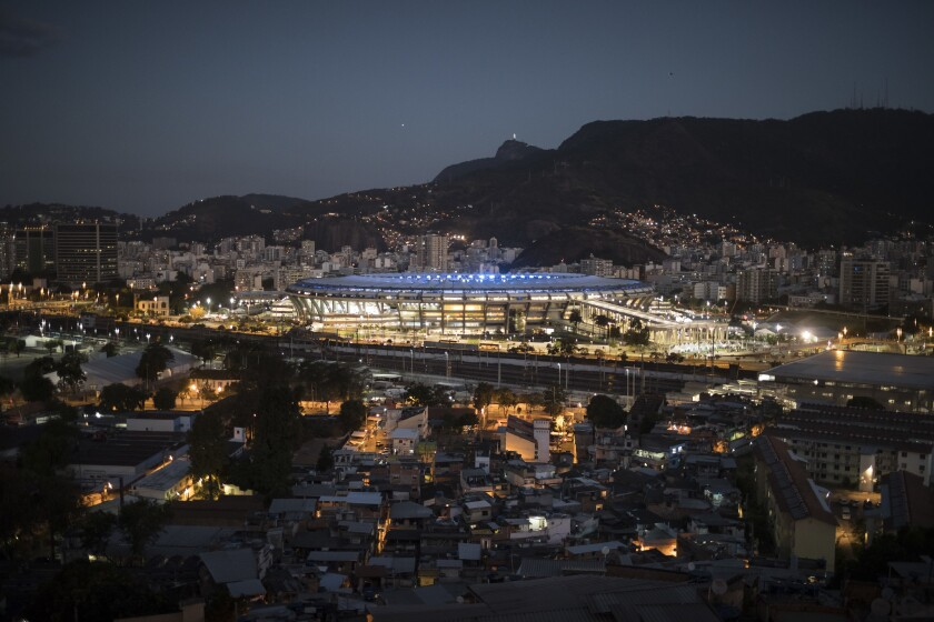 The iconic Maracanã Stadium is located in the central part of Rio.