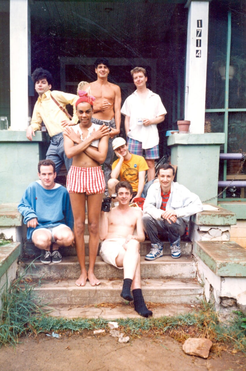 Randy Barbato, Fenton Bailey, RuPaul Charles and friends in their early days working together. Photo