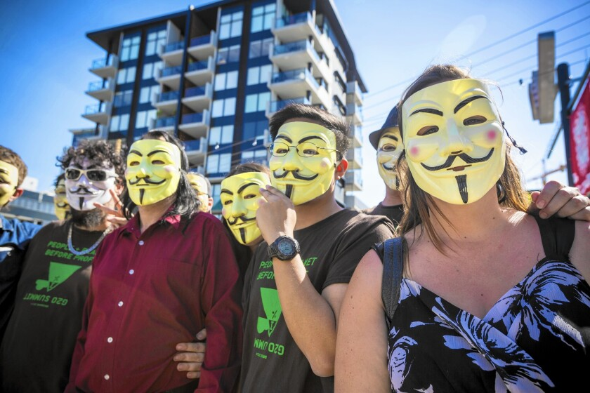G20 Protesters Gather In Brisbane
