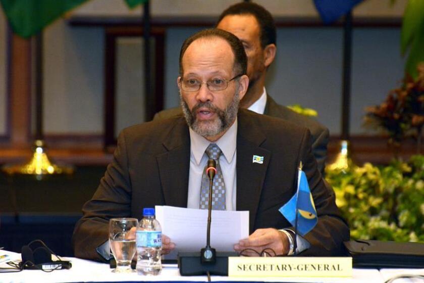 En la imagen, el secretario general de la Comunidad del Caribe (Caricom), Irwin LaRocque. EFE/Archivo