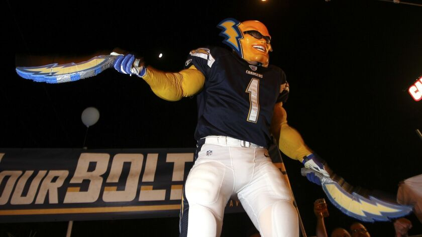 Boltman, or Dan Jauregui, shown in 2016 at a rally for Measure C, the measure for the downtown San Diego Chargers stadium, at Cali Comfort BBQ in Spring Valley.