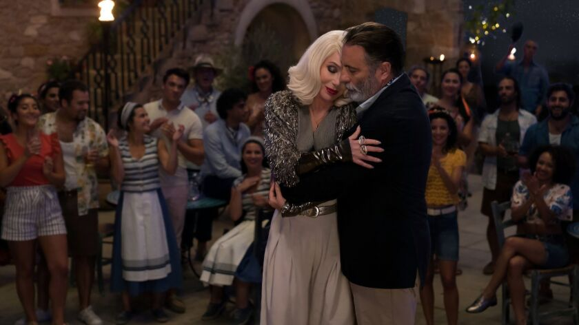 Cher as Ruby Sheridan and Andy Garcia as Fernando in Mamma Mia! Here We Go Again (2018)