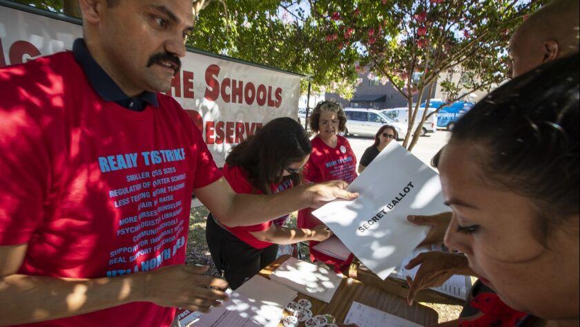 LOS ANGELES, CALIF. -- THURSDAY, AUGUST 23, 2018: Thomas Starr King Middle School teacher Joel Lagun