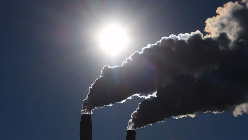A factory spews smoke in Australia.