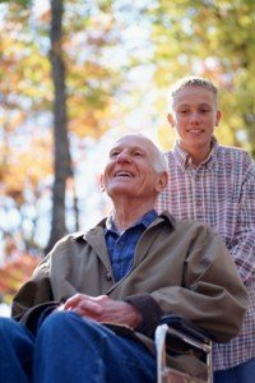 Male caregivers face unique challenges -- but also bring their own set of skills to the table. Photo Credit: Thinkstock, Photos.com