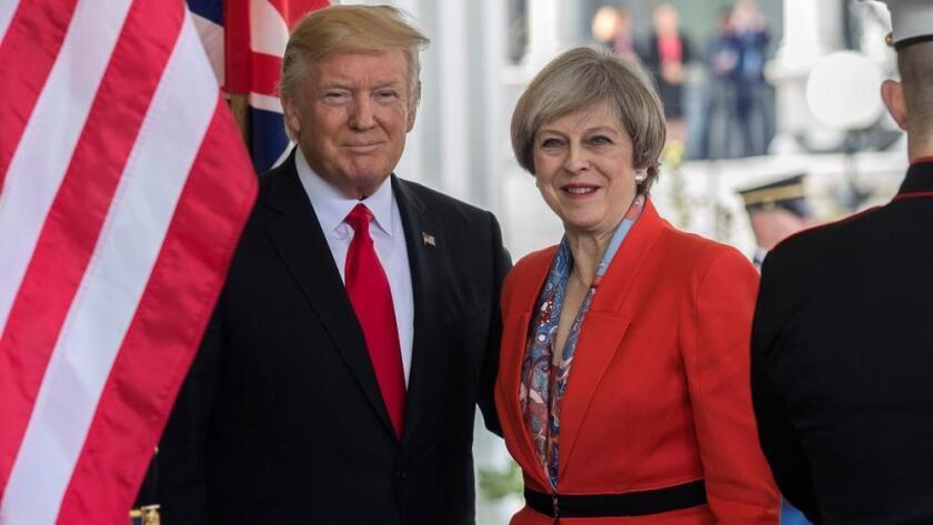La primer ministra Theresa May visitó la semana pasada la Casa Blanca.