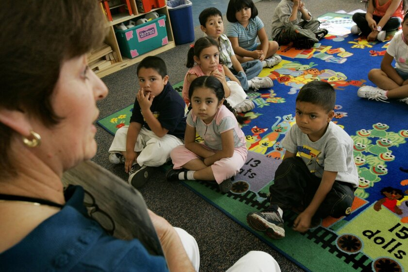 Students in the pre-kindergarten program at Kennedy Elementary in San Diego, which receives Head Start funding.