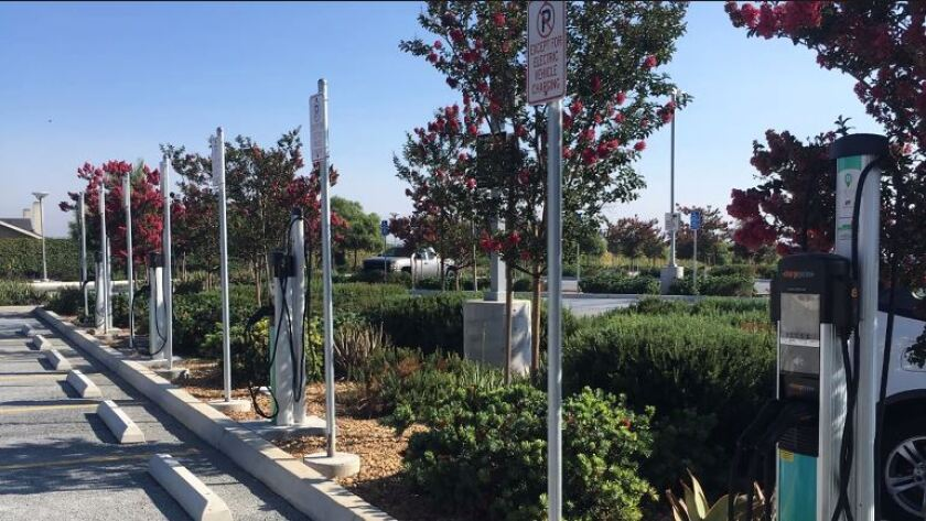 Two EV charging stations like these will be coming to Treganza Heritage Park in Lemon Grove.
