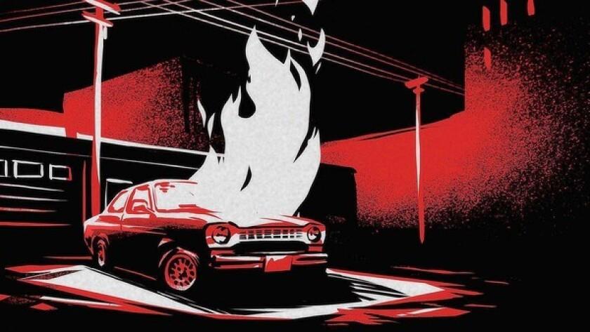 """Video still, """"Crime: The Animated Series"""" teaser, design by Kristoffer W. Mikkelsen"""