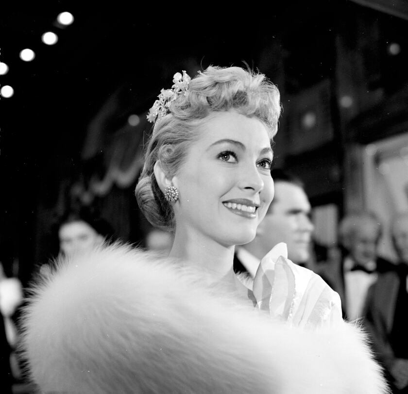 Lori Nelson attends a 1955 event in Los Angeles.