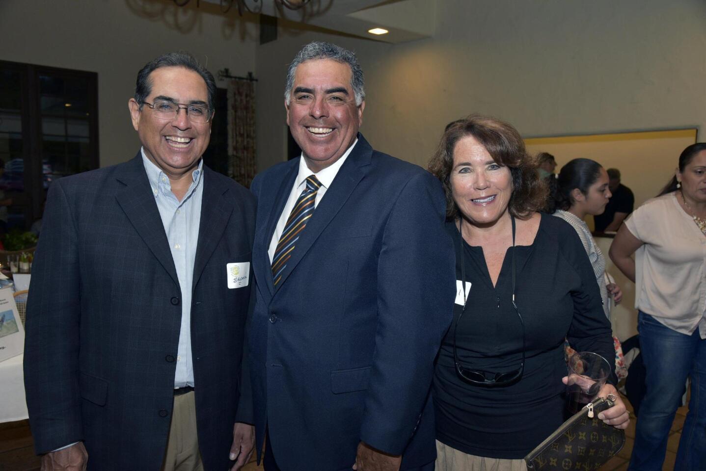 Salomon Sanchez, SES Founder Eduardo Sanchez, Gail Robinson