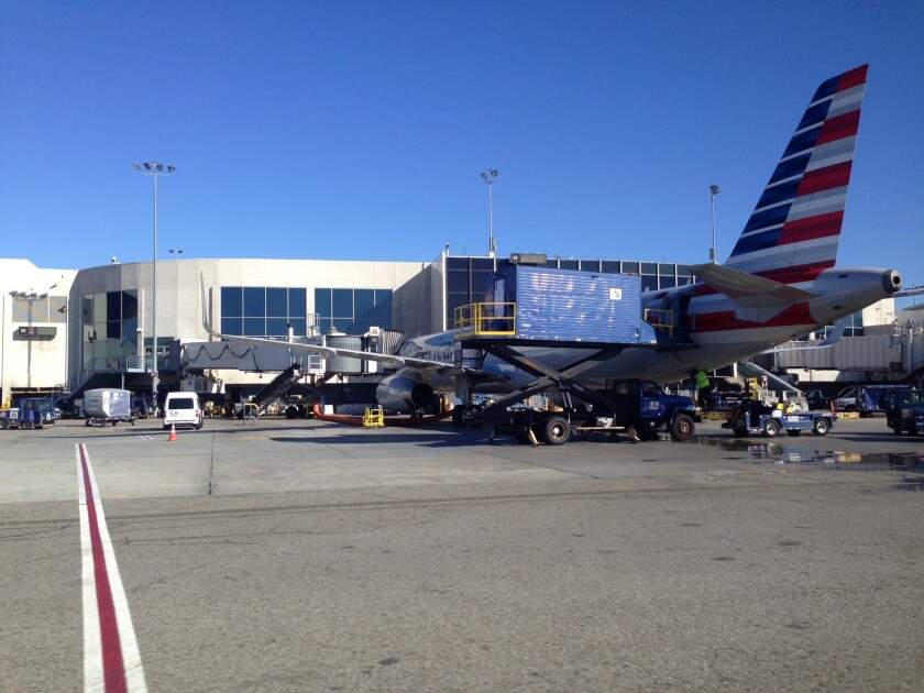 American Airlines moved the operations of US Airways to Terminal 6 at Los Angeles International Airport to make transfers between the carriers easier for passengers.