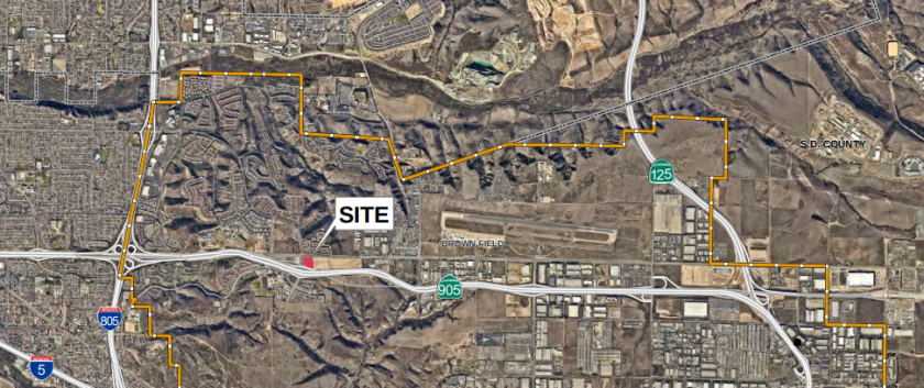 Developer Tri Pointe Homes has proposed a townhouse complex in Otay Mesa.