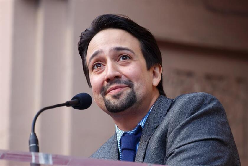 US composer and actor Lin-Manuel Miranda reacts during his ceremony to receive a star on the Walk of Fame near the Pantages Theatre in Hollywood, California, USA, 30 November 2018. EFE/EPA/Archivo