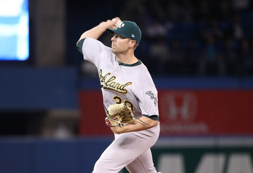 The Dodgers signed former Oakland Athletics relief pitcher Blake Treinen to a one-year, $10 million deal Wednesday.