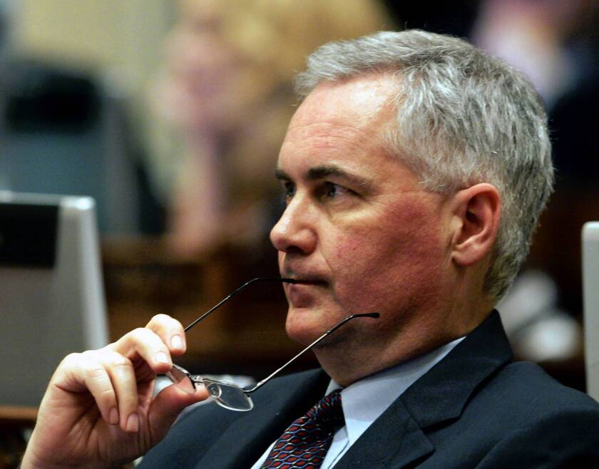 """""""California Republicans always tend to be independent cusses. I think it's a DNA thing,"""" said Rep. Tom McClintock (R-Elk Grove), shown here in 2006, when he was a state senator from Northridge."""