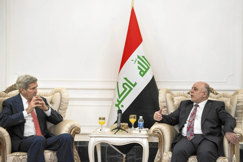 Kerry meets with new Iraqi prime minister