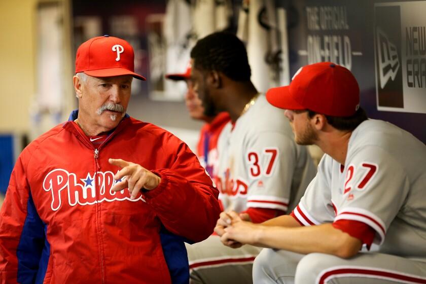 Phillies pitching coach Bob McClure.