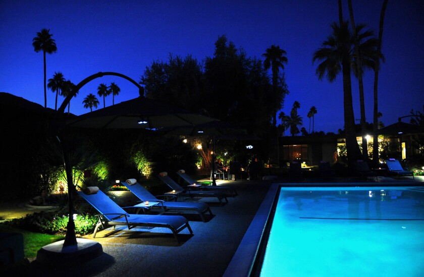 The Riviera Palm Springs opened in the late 1950s and was a hit with the midcentury crowd.
