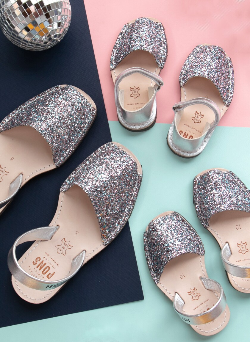 Classic Style Glitter Joy collaboration shoe comes in women and children's sizes.